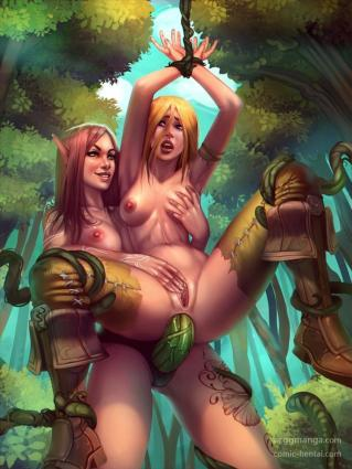 evulchibi, high resolution, uncensored, 2girls, anal, anal insertion, anal object insertion, anus, areolae, arms up,...